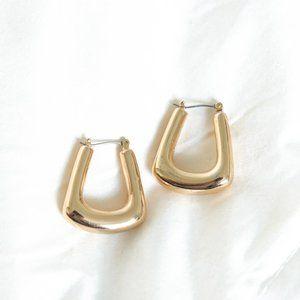 BaubleBar Gold Geometric Hoops